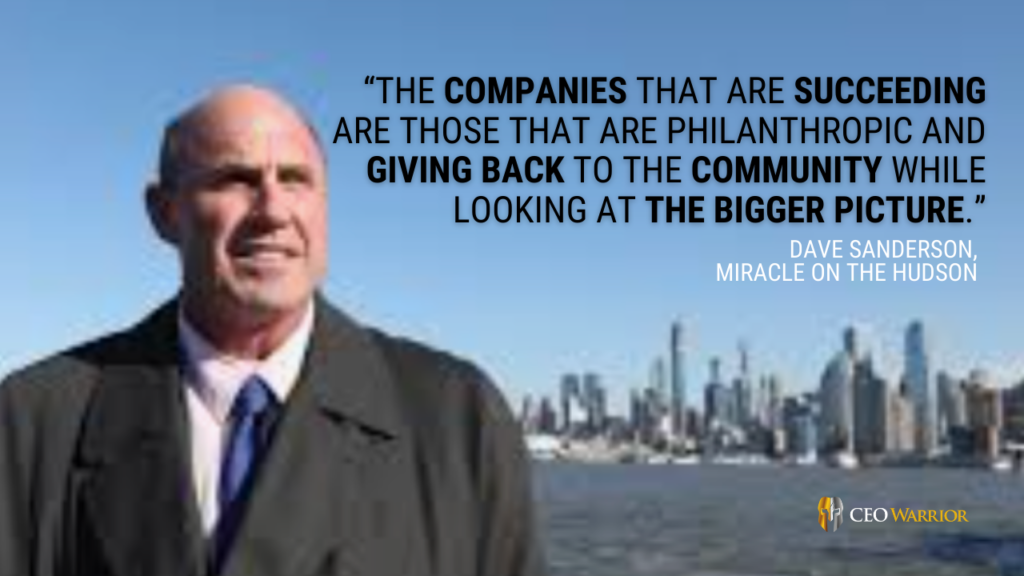 Dave Sanderson, Miracle on the Hudson,